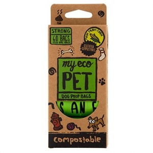 Cardia Dog Waste Bags - 4 Rolls 100% compostable