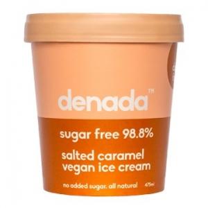 Denada Sugar Free Vegan Ice Cream Salted Caramel 475ml x 6