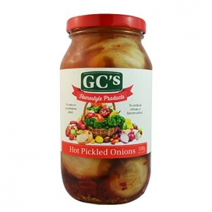 GCs Homestyle Australian Hot Pickled Onions 500g