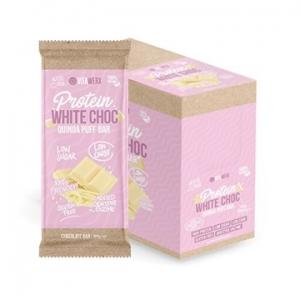 Vitawerx Protein White Chocolate Bar QUINOA PUFF 12 x 100g