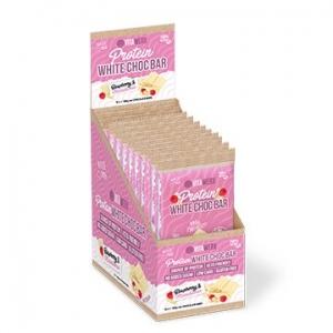 Vitawerx Protein White Choc Raspberry Macadamia Bar 12 x 100g