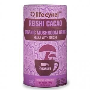 Life Cykel Reishi Cacao Organic Mushroom Drink 100g