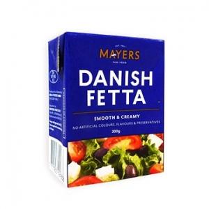 Mayers Danish Feta 10 x 200gm