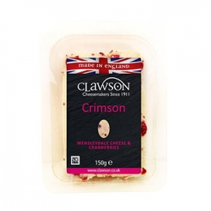 Long Clawson Wensleydale Cheese & Cranberries 6 x 150g