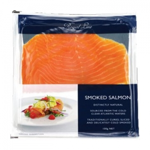 Royal Line Sliced Smoked Salmon 12 x 100g