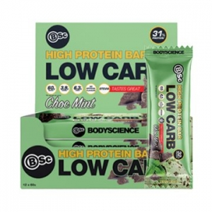 Body Science High Protein Low Carb Bar CHOC MINT 60g x 12
