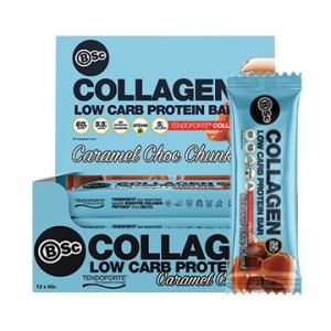 Body Science Collagen Protein Bar CARAMEL CHOC CHUNK 60g x 12