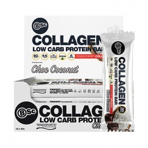Body Science Collagen Protein Bar CHOC COCONUT 60g x 12