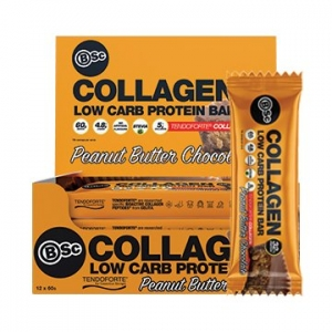Body Science Collagen Protein Bar PEANUT BUTTER CHOC 60g x 12