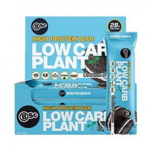 Body Science Low Carb Plant Bar COOKIES + CREME 45g x 12