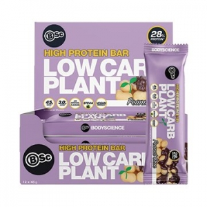 Body Science Low Carb Plant Bar PEANUT CHOC 45g x 12