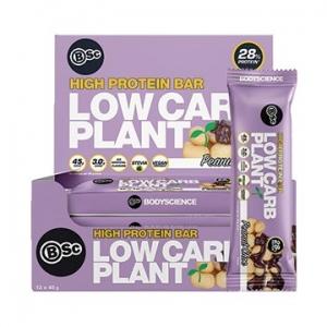 Body Science Low Carb Plant Bar PEANUT CHOC 45g x 12