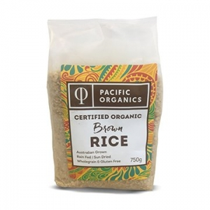 Pacific Organics Organic Rice Brown Medium 750g