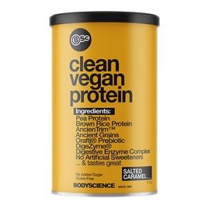Body Science Clean Vegan Protein Salted Caramel 375g