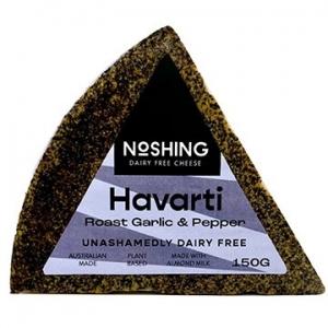 Noshing Havarti with Roast Garlic & Pepper 150g x 6