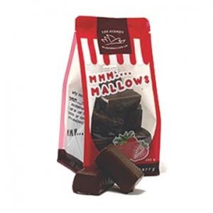 The Sydney Marshmallow Co Choc Coated Marshmallows Strawberry 200g x 10