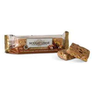 Nougat Limar Nougat Chocolate Almond & Hazelnut Half Log 150g