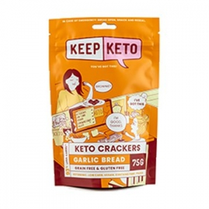 Keep Keto Garlic Bread Flavour Crackers 75g