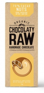 Chocolaty Raw Organic Chocolate Nuts 75g x 12