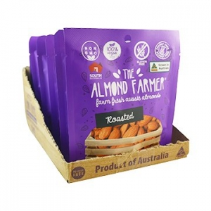 The Almond Farmer Australian 100% Roasted Almonds Snack Pack 50gm x 12