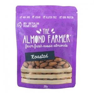 The Almond Farmer Australian 100% Roasted Almonds 200g