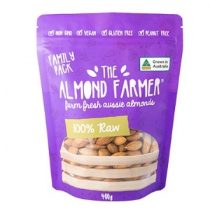 The Almond Farmer Australian 100% Raw Almonds 400g