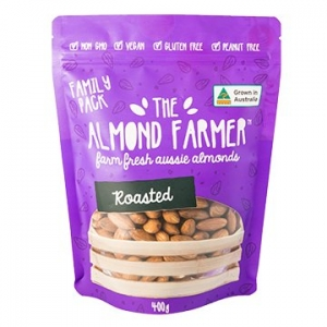 The Almond Farmer Australian 100% Roasted Almonds 400g