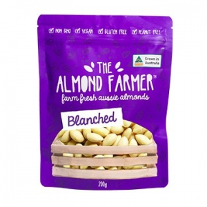 The Almond Farmer Australian Whole Blanched Almonds 200g