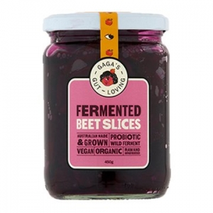 Power Beets Organic Cultured Beetroot Slices 400g x 6