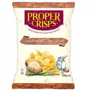 Proper Crisps Onion with Green Chives 150gm x 12