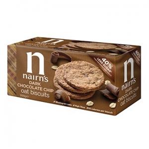 Nairn's Oat Biscuits Dark Chocolate Chip 200g x 8