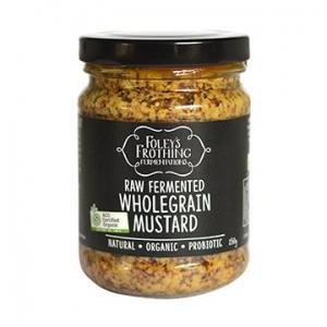 Foleys Organic Raw Fermented Wholegrain Mustard 250g x 6
