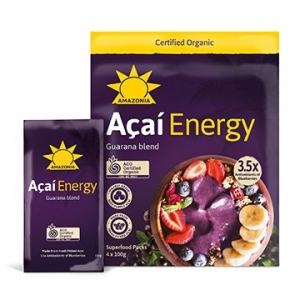 Amazonia Frozen Organic ACAI Retail ENERGY 10 x 4pack