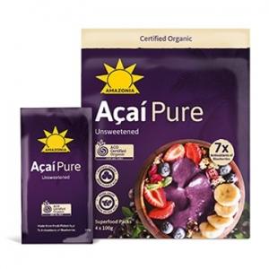 Amazonia Frozen Organic ACAI Retail PURE 10 x 4pack