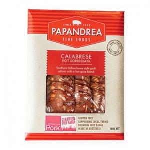 Papandrea Fine Foods Calabrese Hot Sopressata Sliced 100g x 10
