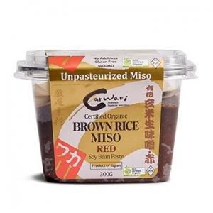 Carwari Organic Brown Rice Miso Red Soy Bean Paste 300g