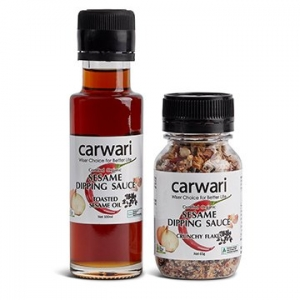 Carwari Organic Sesame Dipping Sauce Pack (Oil + Flakes)