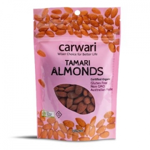 Carwari Organic Tamari Roasted Almonds 150g