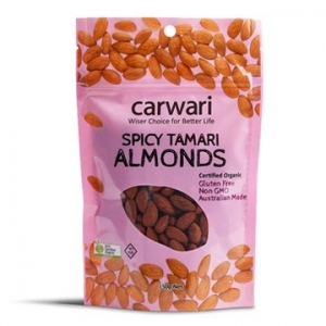Carwari Organic Spicy Tamari Roasted Almonds 150g