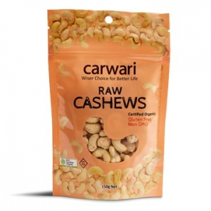 Carwari Organic Raw Cashews 150g
