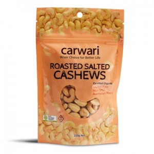 Carwari Organic Salted Roasted Cashews 150g