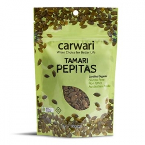 Carwari Organic Tamari Roasted Pepitas 150g