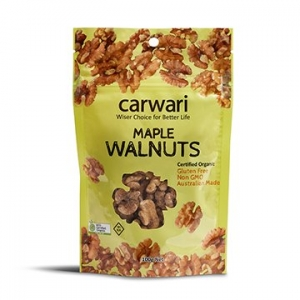 Carwari Organic Maple Roasted Walnuts 100g
