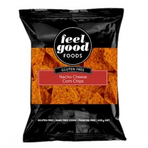 Feel Good Foods Gluten Free Corn Chips NACHO CHEESE 500g x 6