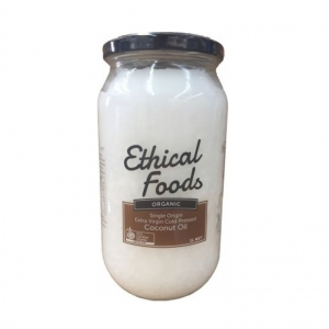 Ethical Foods Organic XV, Cold Pressed Coconut Oil 1Ltr