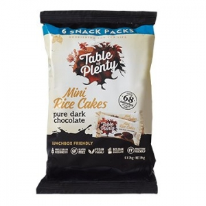 Table of Plenty Mini Rice Cakes Snack Pack DARK CHOCOLATE 84g x 6