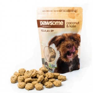 Pawsome Organics Dog Treats COCONUT & KALE 250g