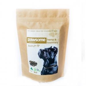 Pawsome Organics Dog Treats HEMP & ROSEMARY 250g