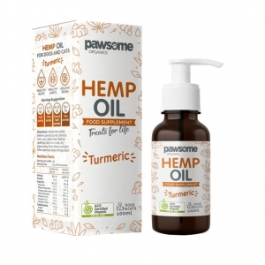 Pawsome Organics Hemp Oil Turmeric 100ml (for Cats+Dogs)