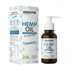 Pawsome Organics Hemp Oil Seaweed 100ml (for Cats+Dogs)
